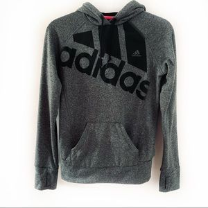 adidas The Go-To Lightweight Grey Hoodie Size XS